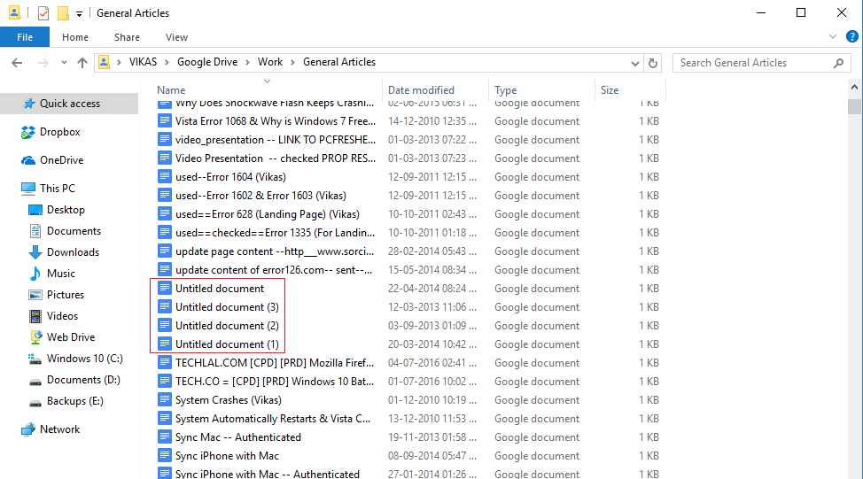 remove duplicates from an individual google drive folder
